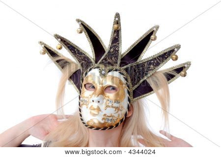 Pretty Woman In Venus Music Mask