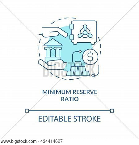 Reserve Ratio Minimization Concept Icon. Bank Regulation System Requirements. Monetary Policy Abstra