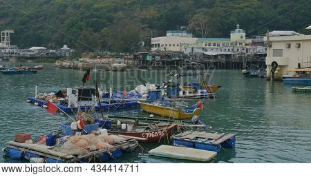 Tai O, Hong Kong 30 March 2021: Tai O Fishing village