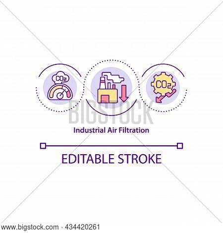 Industrial Air Filtration Concept Icon. Air Purification System Abstract Idea Thin Line Illustration