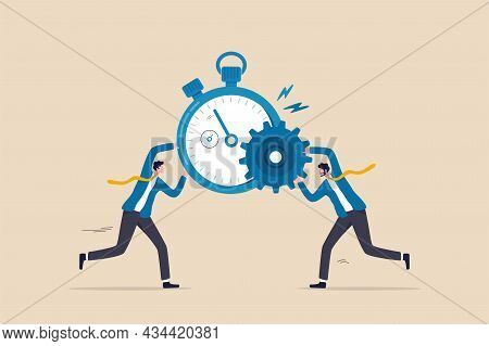 Efficiency Or Productivity, Manage Resources And Time To Optimize Best Work Result, Increase Perform