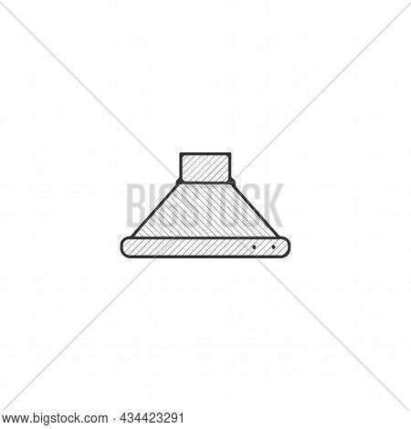 Extractor Hood Vector Thin Line Icon. Extractor Hood Hand Drawn Thin Line Icon.