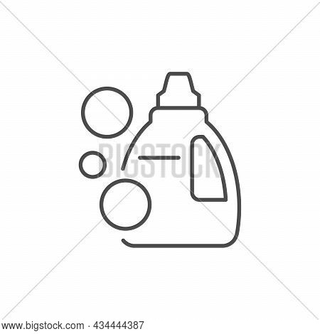 Detergent Or Cleanser Line Outline Icon Isolated On White
