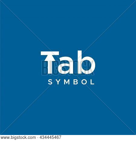 Modern, Clean And Unique Wordmark Design About Tabulation Icon. Eps 10, Vector.