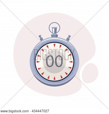 Stopwatch Vector Clipart. Stopwatch Isolated Flat Icon.