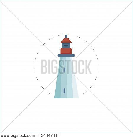 Lighthouse Vector Clipart. Lighthouse Isolated Flat Icon.