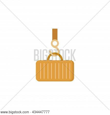Container Logistic And Delivery Vector Clipart. Container Logistic And Delivery Isolated Flat Icon.