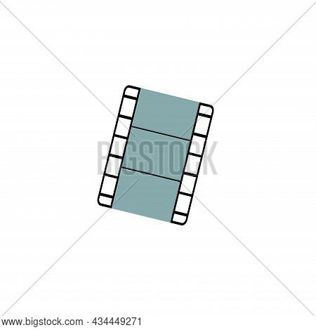Movie Tape Vector Clipart. Movie Tape Isolated Flat Icon.