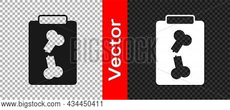 Black X-ray Shots Icon Isolated On Transparent Background. Vector