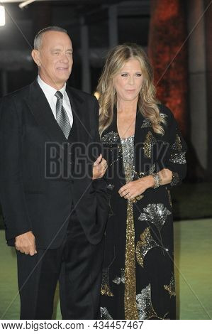 Tom Hanks and Rita Wilson at the Academy Museum of Motion Pictures Opening Gala held at the Academy Museum of Motion Pictures in Los Angeles, USA on September 25, 2021.