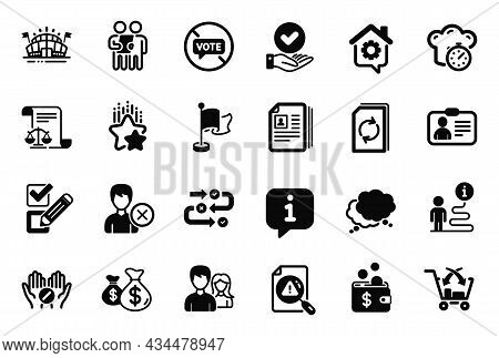 Vector Set Of Business Icons Related To Ranking Stars, Speech Bubble And Remove Account Icons. Coins
