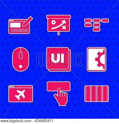 Set Ui Or Ux Design, Keyboard, Color Palette Guide, Web Development, Website Template, Computer Mous