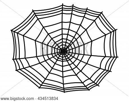Spider Web Symbols, Realistic Spiderweb. Halloween Clip Art