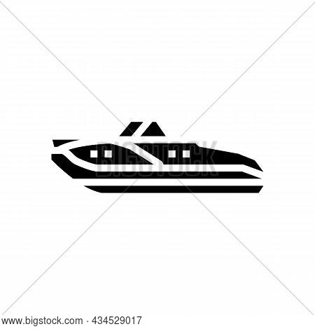 Cuddy Cabins Boat Glyph Icon Vector. Cuddy Cabins Boat Sign. Isolated Contour Symbol Black Illustrat