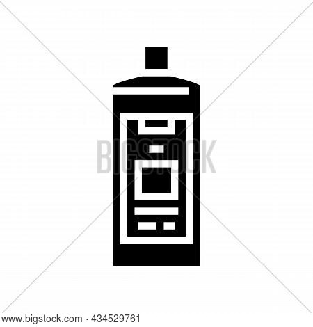 Color Safe Detergent Glyph Icon Vector. Color Safe Detergent Sign. Isolated Contour Symbol Black Ill