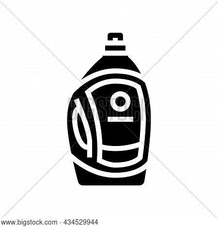 Liquid Detergent Bottle Glyph Icon Vector. Liquid Detergent Bottle Sign. Isolated Contour Symbol Bla