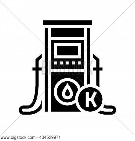 Kerosene Gas Station Glyph Icon Vector. Kerosene Gas Station Sign. Isolated Contour Symbol Black Ill