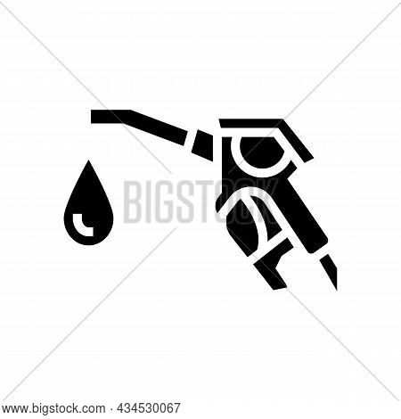 Hydrogen Gas Station Glyph Icon Vector. Hydrogen Gas Station Sign. Isolated Contour Symbol Black Ill