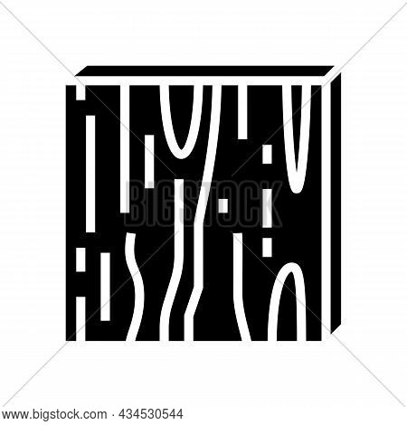 Plywood Timber Glyph Icon Vector. Plywood Timber Sign. Isolated Contour Symbol Black Illustration