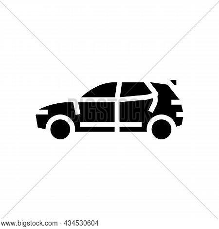 Suv Car Glyph Icon Vector. Suv Car Sign. Isolated Contour Symbol Black Illustration