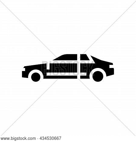 Coupe Car Glyph Icon Vector. Coupe Car Sign. Isolated Contour Symbol Black Illustration