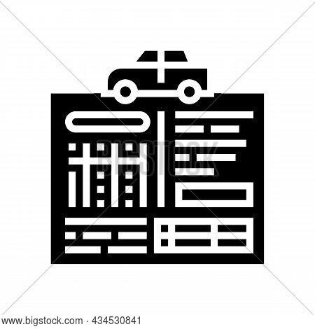 Car Service History Glyph Icon Vector. Car Service History Sign. Isolated Contour Symbol Black Illus