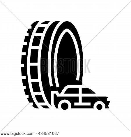 Passenger Tires Glyph Icon Vector. Passenger Tires Sign. Isolated Contour Symbol Black Illustration