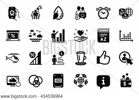 Vector Set Of Simple Icons Related To Recovery Cloud, Travel Sea And Like Icons. Dot Plot, Euler Dia