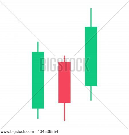Candle Trading Chart For Analyzing Trading On The Crypto Currency And Stock Markets