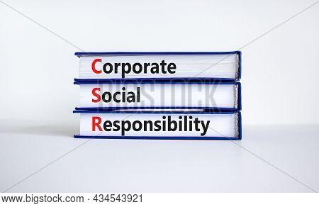 Corporate Social Responsibility Symbol. Concept Words Csr, Corporate Social Responsibility On Books