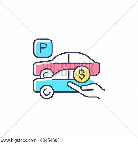 Free Parking Spots Rgb Color Icon. Provide Parking For Employees. Reward For Workers. Access To Comp