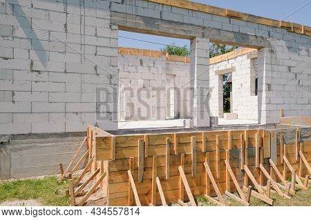 Construction Of A Residential New Building Under Construction At A Construction Site. Construction C