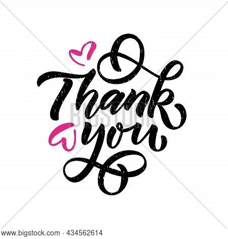 Hand Sketched Thank You Lettering Templates. Handwritten Inspirational Quotes Thank You. Hand Drawn