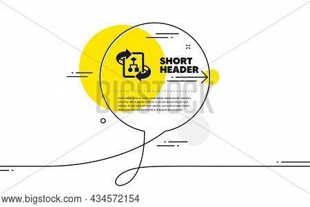 Technical Algorithm Icon. Continuous Line Chat Bubble Banner. Project Documentation Sign. Technical