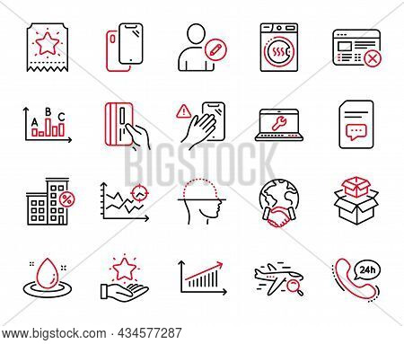 Vector Set Of Technology Icons Related To Reject Web, Laptop Repair And Smartphone Icons. Survey Res
