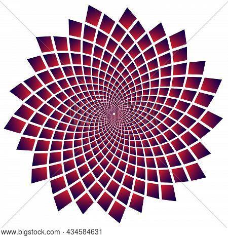 Square Repeated In Fibonacci Pattern. Fibonacci Square Gradient