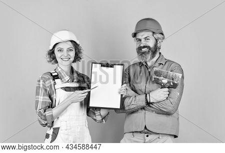 Price List. Couple Look Documents. Couple Planning Changes Renovation Apartment. Renovation Concept.