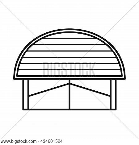 Isolated Object Of Warehouse And Awning Logo. Web Element Of Warehouse And Storage Stock Symbol For