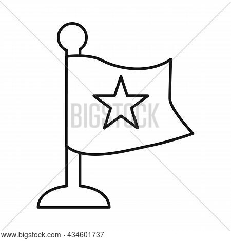 Vector Design Of Flag And Red Symbol. Collection Of Flag And Vietnamese Vector Icon For Stock.