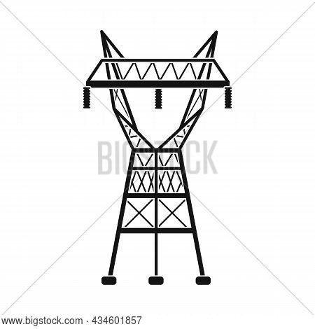 Isolated Object Of Electrical And Station Icon. Graphic Of Electrical And Transmit Stock Vector Illu