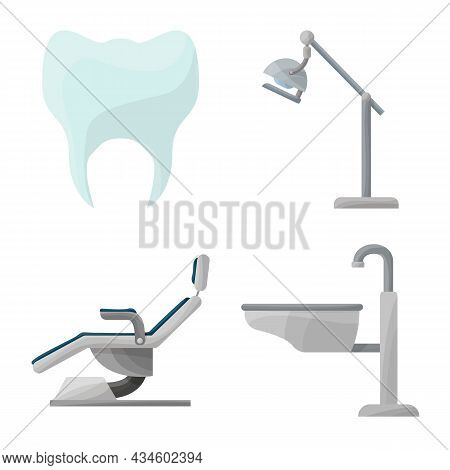 Vector Illustration Of Stomatology And Dentistry Symbol. Set Of Stomatology And Dentist Stock Vector