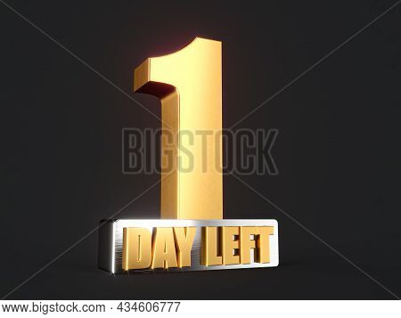 One Day Left Only 1 Day Left Design Template Countdown Left Days Banner. Count Time Sale. Nine, Eigh