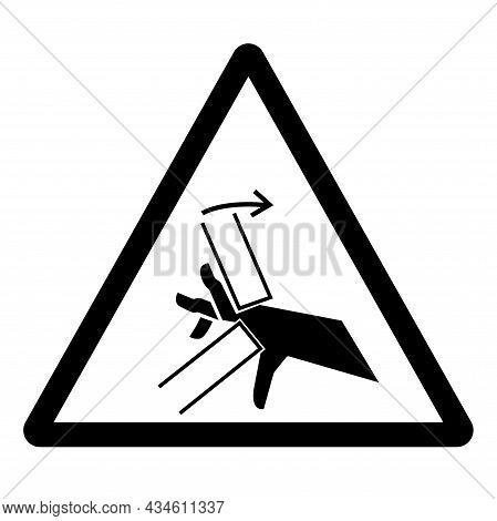 Hand Crush Pinch Point Symbol Sign, Vector Illustration, Isolate On White Background Label .eps10