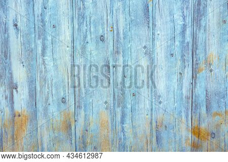 Light Blue Weathered Dirty Wooden Photo Background
