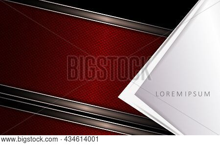 Dark Geometric Design, White Corner With An Arrow, Slanting Textured Curtains With A Border.