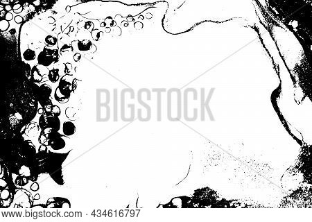 Ink Drops Vector Texture. Grunge Spilled Watercolor Background. Copyspace.