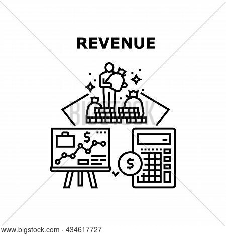 Revenue Finance Vector Icon Concept. Revenue Finance Planning Strategy And Calculating Income And Ex