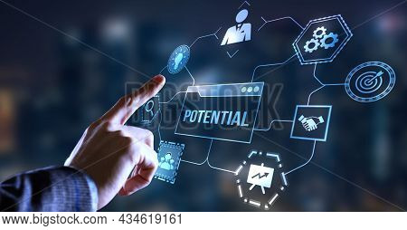 Internet, Business, Technology And Network Concept. Coach Motivate To Personal Development. Personal