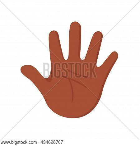 Hand Of An African American Human. The Palm Is Like A Sense Organ. Part Of The Body. The Organ Of To
