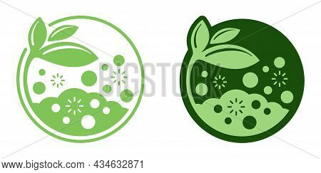 Organic Fertilizer Flat Icon - Farming Agriculture Useful Component - Naturally Occurring Organic Wa